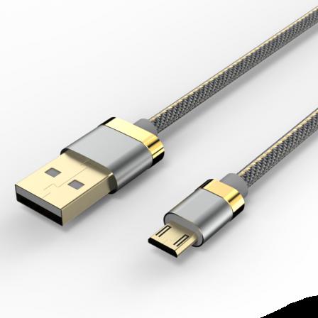 Кабель Voltex Premium USB — microUSB 3А Grey