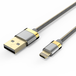 Кабель Voltex Premium USB — Apple Lightning 3А Grey
