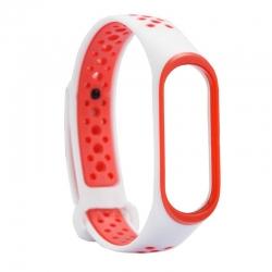 Ремешок Xiaomi Mi BAND 3 Apple Style Red-White
