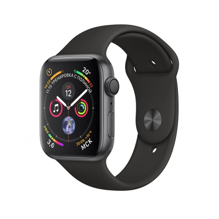 Смарт-часы Apple Watch Series 4 44mm Space Gray Aluminum Case with Black Sport Band MU6D2
