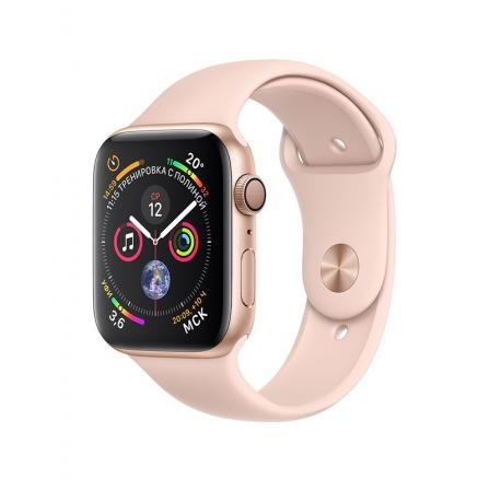Смарт-часы Apple Watch Series 4 GPS 40mm Gold Alum. w. Pink Sand Sport b. Gold Alum. (MU682)
