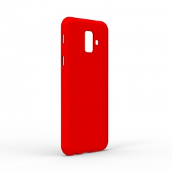 Чехол-накладка Samsung Galaxy A6 Plus (A605) Monochromatic Red