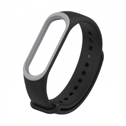 Ремінець Xiaomi Mi BAND 3 Black-Grey