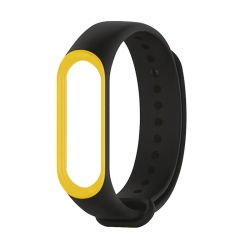 Ремінець Xiaomi Mi BAND 3 Black-Yellow