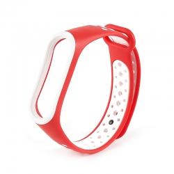 Ремінець Xiaomi Mi Band 3 і Mi Band 4 Red-White