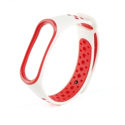 Ремінець Xiaomi Mi BAND 3  White-Red