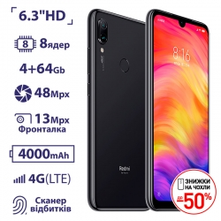 Xiaomi Redmi Note 7 4/64GB Black UA