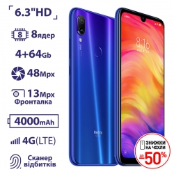 Xiaomi Redmi Note 7 4/64GB Blue UA