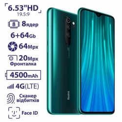 Xiaomi Redmi Note 8 Pro 6/64GB Forest Green EU