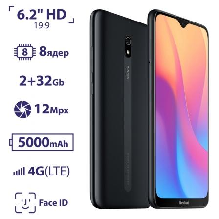 Xiaomi Redmi 8A 2/32Gb Midnight Black EU