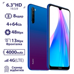 Xiaomi Redmi Note 8T 4/64GB Blue EU