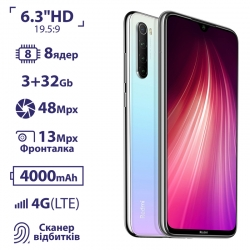 Xiaomi Redmi Note 8 3/32GB Moonlight White EU