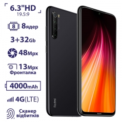 Xiaomi Redmi Note 8 3/32GB Space Black EU