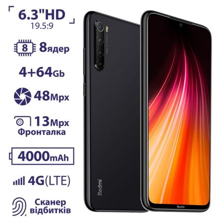 Xiaomi Redmi Note 8 4/128GB Space Black EU