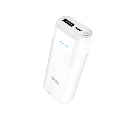 Зовнішній акумулятор Hoco B35A White 5200mA