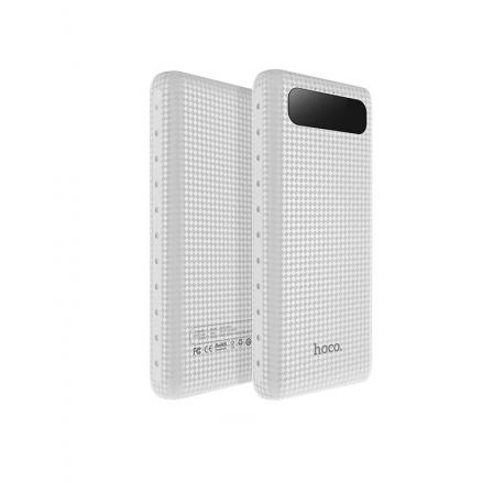 Зовнішній акумулятор Hoco B20A White LCD 20000mAh