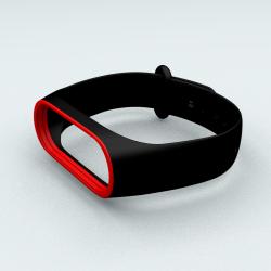 Ремінець Xiaomi Mi Band 3 і Mi Band 4 Black-Red