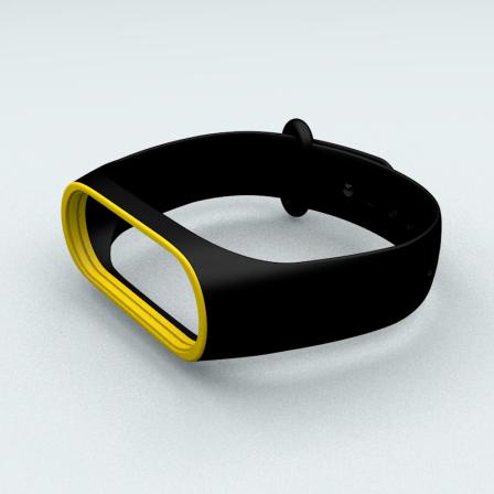 Ремешок Xiaomi Mi Band 3 и Mi Band 4 Black-Yellow