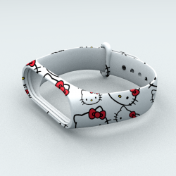 Ремешок Xiaomi Mi Band 3 и Mi Band 4 Hello Kitty