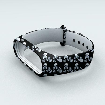 Ремінець Xiaomi Mi Band 3 і Mi Band 4 Skull