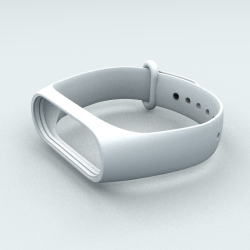 Ремінець Xiaomi Mi Band 3 і Mi Band 4 White