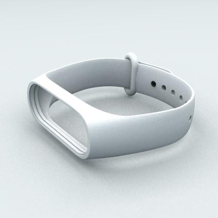 Ремешок Xiaomi Mi Band 3 и Mi Band 4 White
