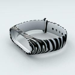 Ремешок Xiaomi Mi Band 3 и Mi Band 4 Zebra