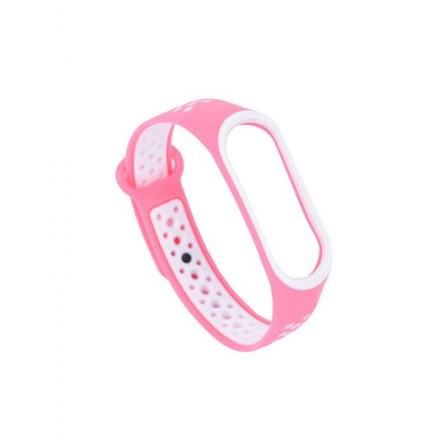 Ремешок Xiaomi Mi Band 3 и Mi Band 4 Pink-White