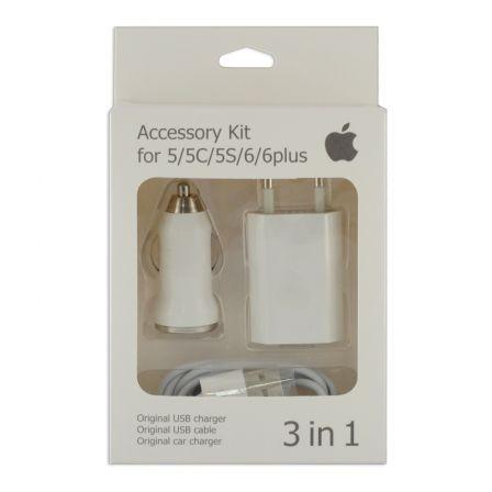 Зарядный комплект для iPhone 5 3in1