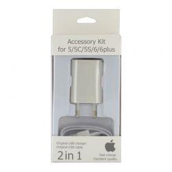 Зарядный комплект для iPhone 5 2in1
