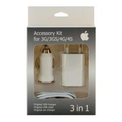Зарядный комплект для iPhone 4 3in1