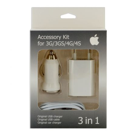 Зарядный комплект для iPhone 4 3in1