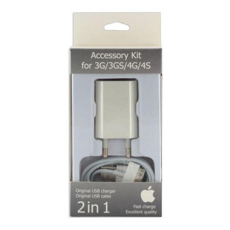 Зарядный комплект для iPhone 4 2in1