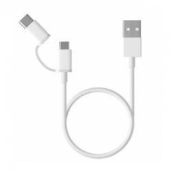 Кабель USB Type-C Xiaomi Mi 2-in-1 USB Cable Micro USB to Type C 100cm (SJV4082TY)