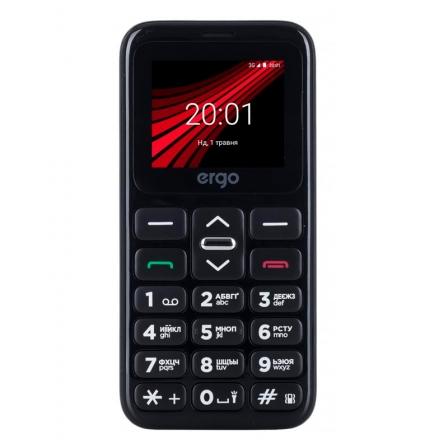 Мобильный телефон (бабушкофон) ERGO F186 Solace DS Black