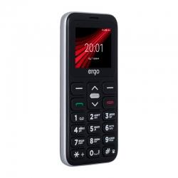 Мобільний телефон (бабушкофон) ERGO F186 Solace DS Silver