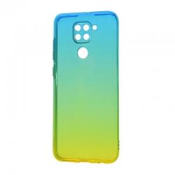 Чехол Silicon Gradient Xiaomi Note 9 White-Green