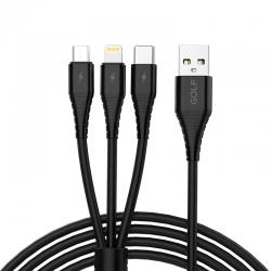 Адаптер USB Golf GC-65 3 in 1 Black