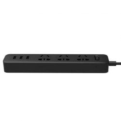 Сетевой фильтр-удлинитель Xiaomi Mi Power Strip (3 розетки + 3 USB-port) Black