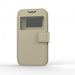 """Чехол универсальный BOOK Uni Soft 5,5"""" Gold"""
