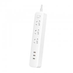 Сетевой фильтр-удлинитель Xiaomi Mi Power Strip 3 розетки + 3 USB White (XMCXB04QM, NRB4030GL)