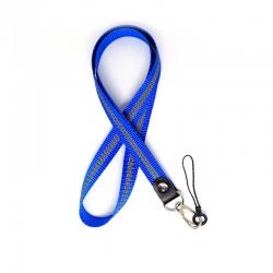 Шнурок на шию для ключів і телефону Брезе Флік Blue