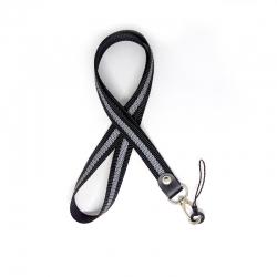 Шнурок на шею для ключей и телефона Брезе Флик Black