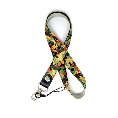 Шнурок на шею для ключей и телефона Брезе Флик Red