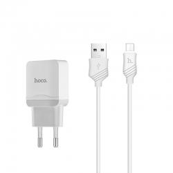 Комплект зарядного пристрою HOCO C11 1A Micro USB White