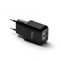 Комплект зарядного устройства HOCO C22-A 2A Micro USB Black