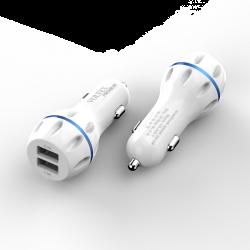 Автомобільний зарядний пристрій HOCO 2.4A Z23 White