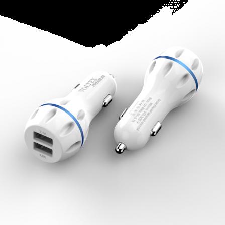 Автомобильное зарядное устройство HOCO 2.4A Z23 White