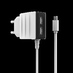 Мережевий зарядний пристрій HOCO 2A C12 White
