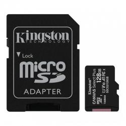 Карта памяти Kingston 128 GB microSDXC Class 10 UHS-I Canvas Select Plus + SD Adapter SDCS2/128GB